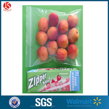 Resealable zip lock bag one side clear plastic zipper bag special for food packing