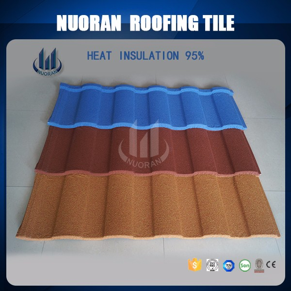 Nuoran building materials types of roof covering green chinese glazed roof tiles