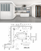 40 years professional kitchen CAD/3D drawing design service