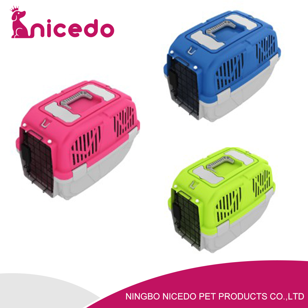 wholesale pet transport box cheap dog cage with pet carrier