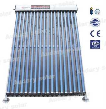 Heat-pipe solar water collector