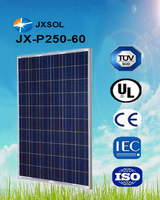 High Efficiency 250W poly solar panel with frame and MC4 connector