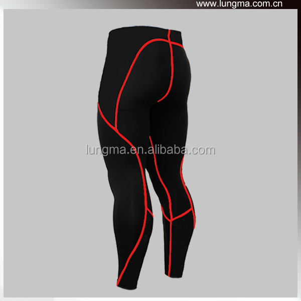 Mens Skin Tight Activewear Compression Pants Black