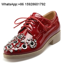 Summer sexy Enchase diamond Genuine leather Ladies flat shoes OCF1