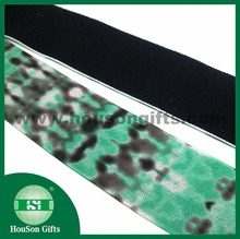 HSET787 Custom brushed elastic printed plush elastic