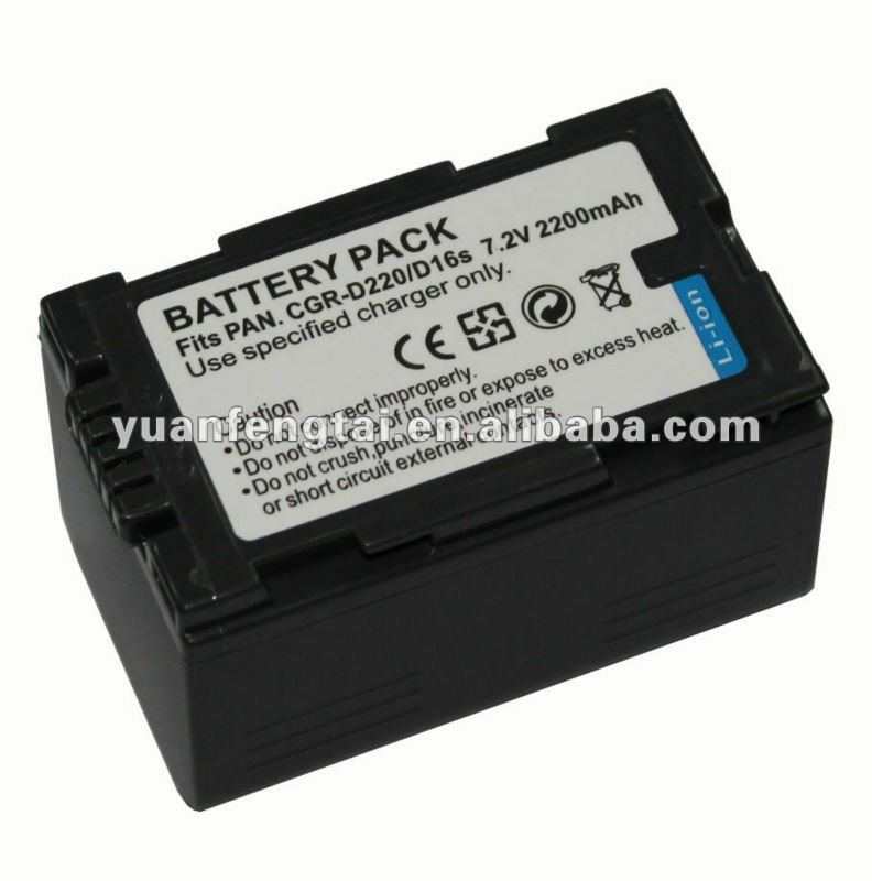 7.2V 2000mah digital video camera battery for Panasonic CGR-D220/D16S