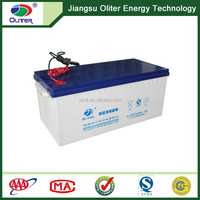 Wholesale price!Deep cycle maintenance free 12V 200AH gel solar battery