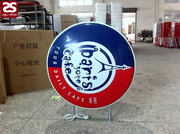 Custom Led Double Sided Vacuum Formed Acrylic Circle Outdoor Sign ...