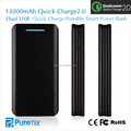 Factory Direct Cheap price Qualcomm Qucik Charge 2.0 20000mAh Portable Powerbank 10000mAh li-ion 18650 battery pack for Samsung