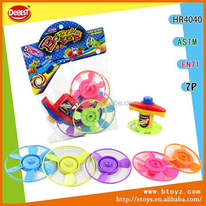 Wholesale bouncing plastic spinning top toy
