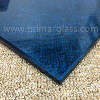 Prima building blue toughened glass for kitchen splashback