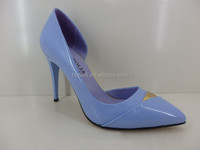 light blue cute thin high heel pump shoes