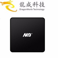 2016 original Android 5.1 lollipop 4k ott tv box M9+ amlogic S905 tv box from drago