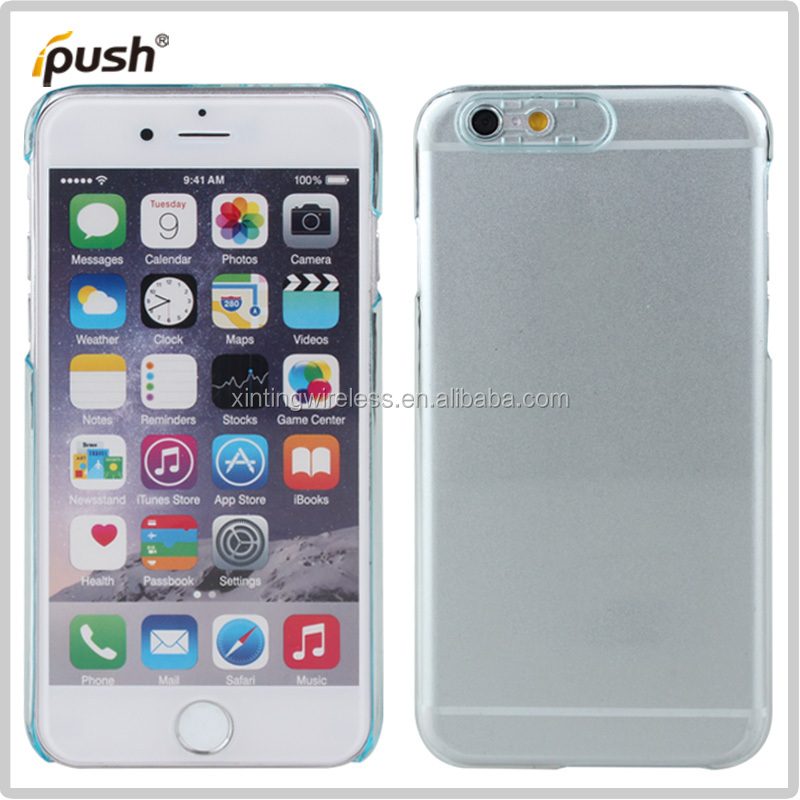 transparent many color PC case hard cover For iPhone6 phone case