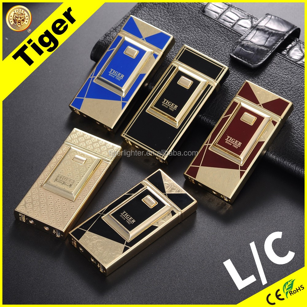 New Arrival Tiger Electric Lighter 915 DB-02 Double Arc Lighter Wholesale USB Charged Lighter