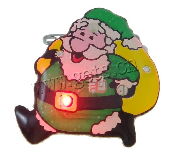 Cute christmas brooch with led flashing for ladies in christmas holiday