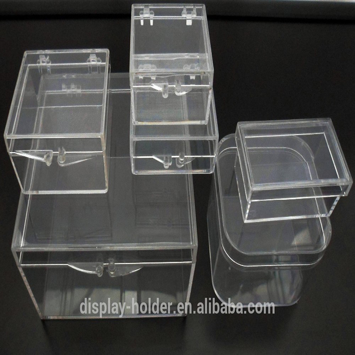 Transparent small plastic case for packing