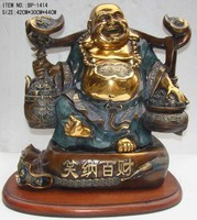 Fengshui decoration Chinese bronze lucky buddha statue BP -1414