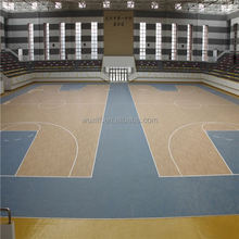 new material easy to clean pvc sports flooring in roll basketball for sales