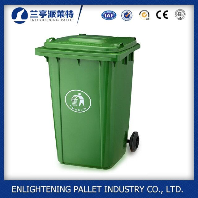 240L plastic waste bins garbage bin, trash can outdoor large dustbin