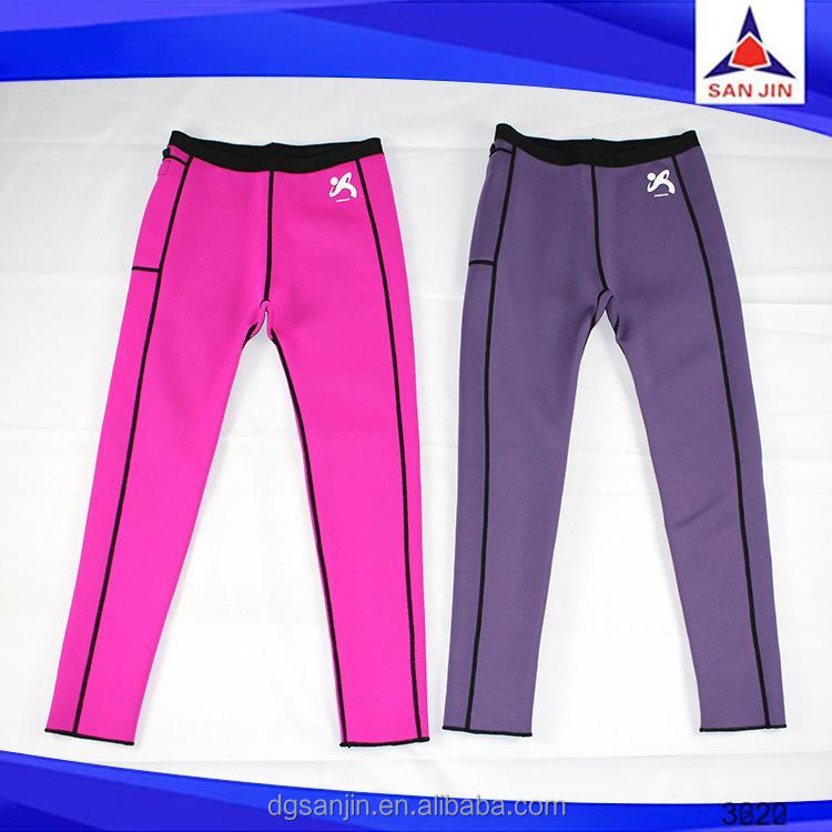 Gym exercise slimming pants body heating trousers