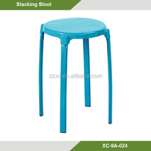 Color Assorted Stacking Round Plastic Stool