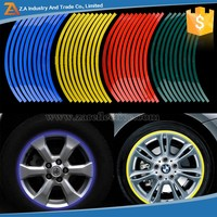 300 Sets MOQ Vinyl Sticker Colorful Safety Rim Pinstripe Reflecting Tape Sticker for Bicycle/Motorcycle/Car Wheel Rim Stickers