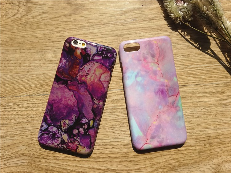New Fashion Hard Plastic Colored Marble Phone Case,Purple Marble Cell Phone Case For Iphone