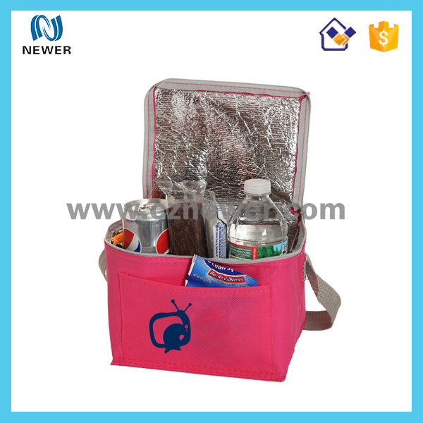 Stylish nice looking cute fashionable designer pink color make up cooler bags