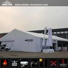 20x20m Clear Span Aluminum Structures White PVC Fabric Big Asian Warehouse Tents Canopy Removable Poland