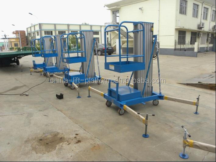 One column single person hydraulic lift aluminum one man lift