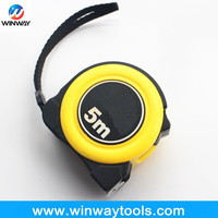 high performance Co mould white blade measuring ruler/ round high impact ABS+TPR 1 1/4 inch tape measure
