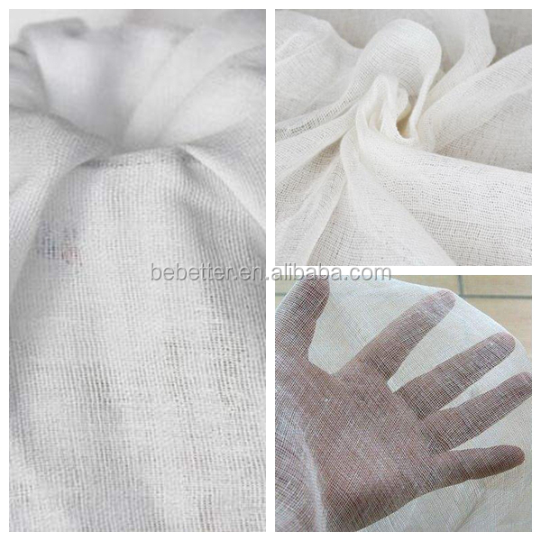 100% Cotton Plain Weave Pure Cotton Double Layers of Gauze for baby cloth