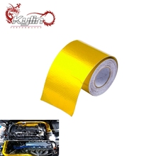 "Ryanstar Racing 2"" x 5meter Universal Exhaust Pipe Golden Glass Fiber Heat Wrap"