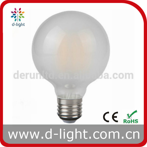 G125 Frosted 4W 8W 110-130V 220-240V E27 B22 E26 filament led light bulbs Clear/Softwhite for choice
