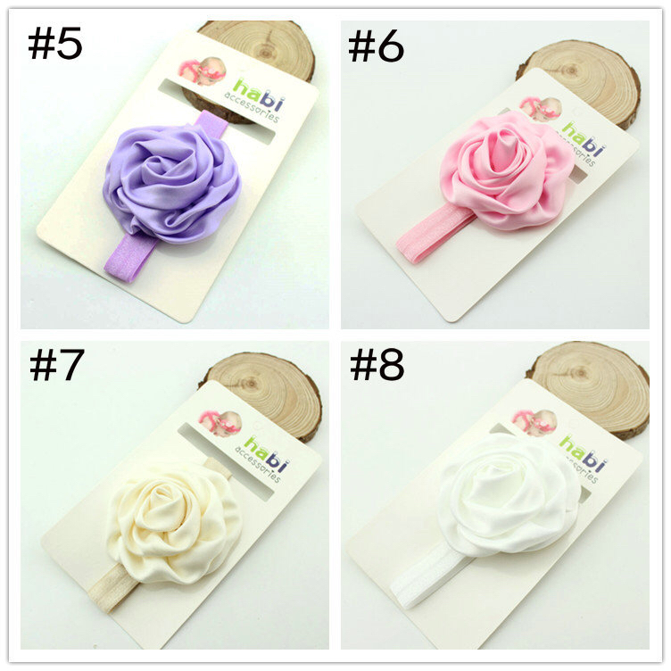 factory directly sell top baby headband baby amour solid color stain rose headband