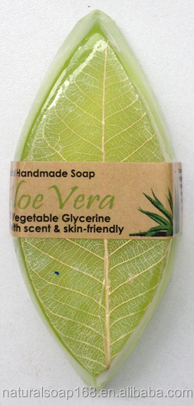 natural Aloe Vera leaves handmade essencial oil soap