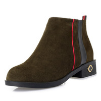 Stylish men boots winter ankle boots premium suede leather boots