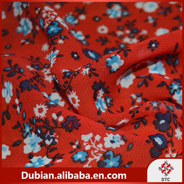 100% polyester 75D printed chiffon fabric