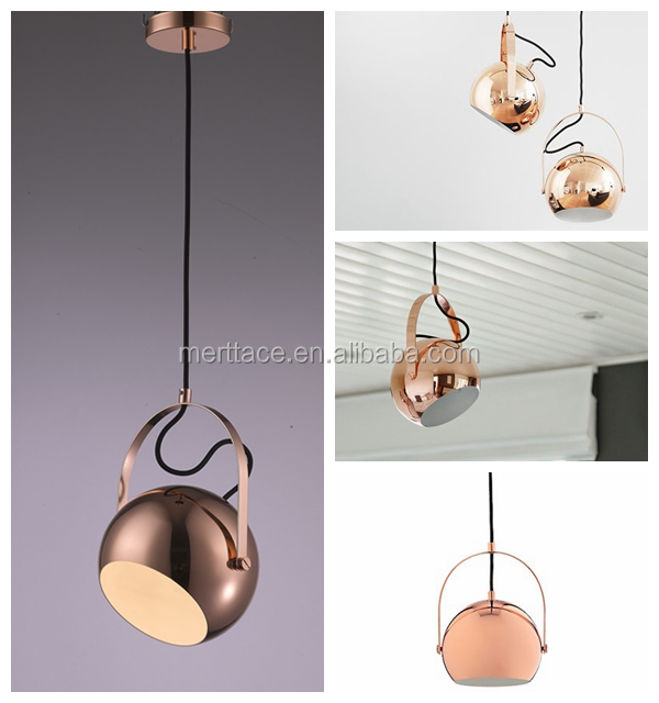copper spinning suspension ceiling pendant lights