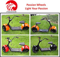 2016 popular Harley scrooser style electric scooter with big wheels, fashion city scooter citycoco