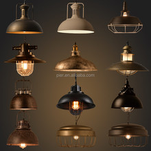 Wholesale retro Dining room copper chandelier loft E27 Edison bulb industrial lighting