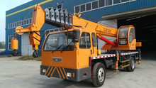 New hydraulic 6 8 10 12 ton small truck mounted crane for sale,360 degree rotation 7 ton truck cranes