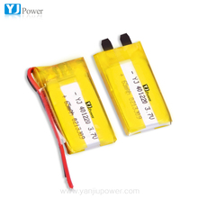 professional lithium ion polymer battery 3.7v 65mah 130mah 401220 Lipo Battery for digital devices