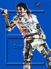 Handmade Pop Art Michael Wholesale Stretched Canvas Painting