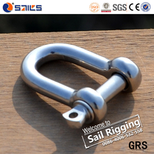 Anchor Chain Screw Pin Straight Stainless Steel Straight Ss Chain D Dee Shackle