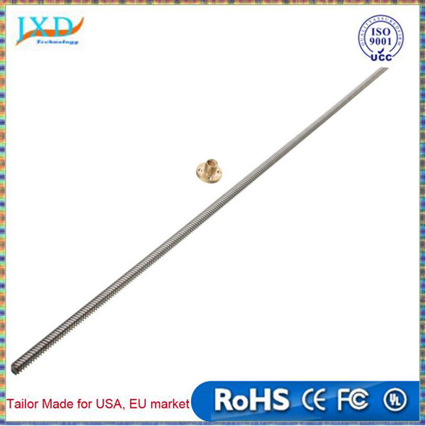 3D Printer Lead Screw 8mm L 600mm Dia 8MM Pitch 2mm Lead 4mm Length 600mm With Copper Nut For DIY 3D Printer Z Axis