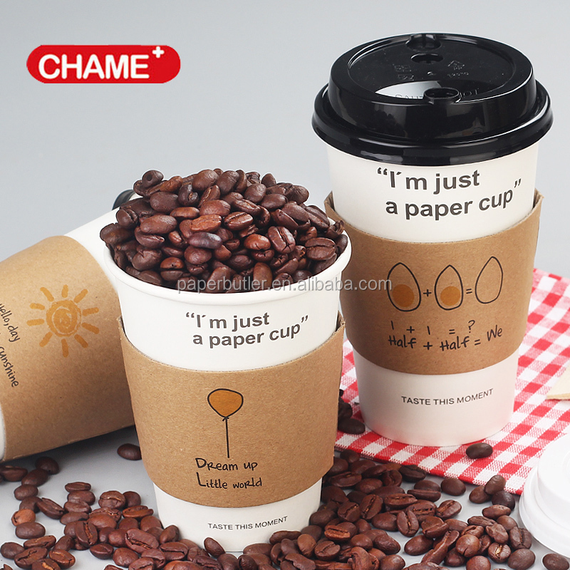 Hot sale kraft black coffee sleeve cup sleeve with logo