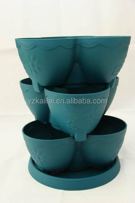2015 plastic stackable planters pp flower pots ON SALE