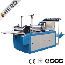 line heat sealing cold cutting T-shirt flat bag making machine price with